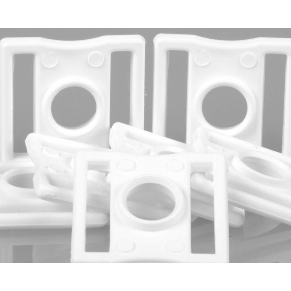 Wall Muovisoljet (10kpl), Valkoinen